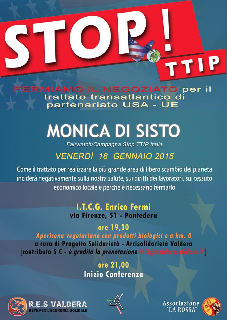Locandina Di Sisto-TTIP